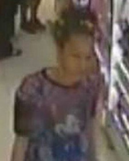 Police wish to speak to this woman in connection with a theft from Boots in Hitchin