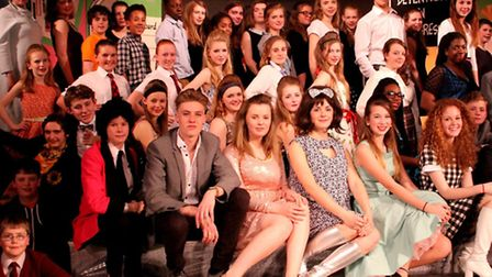 The Friends' School cast of Hairspray.
