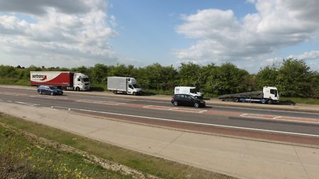 The area on the A507 where the proposed roundabout and relief road could be built