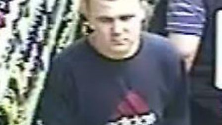 Police wish to speak to this man in relation to a theft at a Baldock conveniance store
