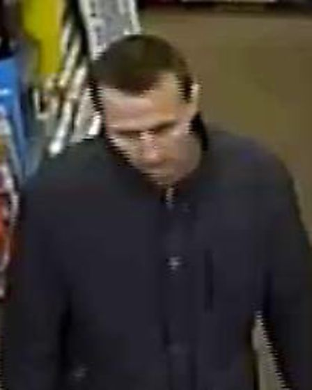 Police wish to speak to this man in relation to a theft at a WHSmith in Letchworth