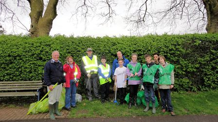 The team at Butts Close who took part in the Big Hitchin Tidy Up at the weekend