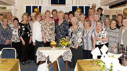 The ladies of the Shillington Wives Group at the group's 50th anniversary celebration held at the Co
