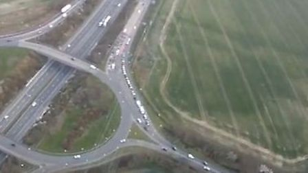 The view of Letchworth Gate from Steve Paffet's plane. Credit: Steve Paffet