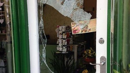 Aspidistra Florist on Station Road was broken into by thieves between 5.15pm on Friday and 6.40am on