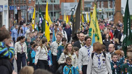 More than 700 Hitchin Scouts attended the march yesterday (Sunday) credit Sam Hankin/Kathryn Rainbow