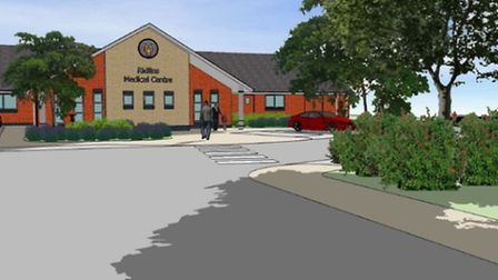 An artist's impression of the planned Ridlins Medical Centre