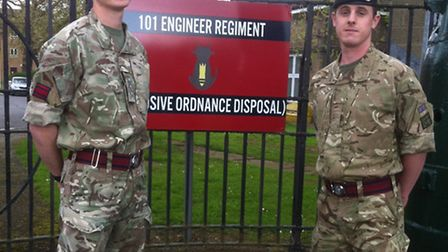 Captain Damian Warren and Sapper Christopher Wagstaff will be travelling to Peru