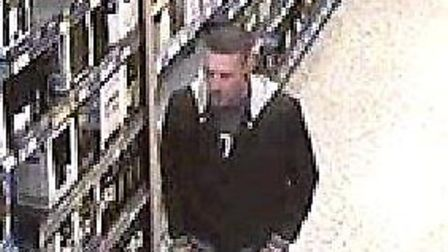 Police have released CCTV images of the men wanted in connection with theft of alcohol from the Saf