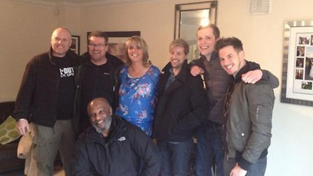 Paula and Kian from Westlife with the Daybreak crew