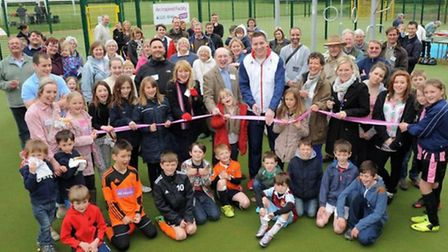 The £100,000 sports zone was officialy opened last weekend