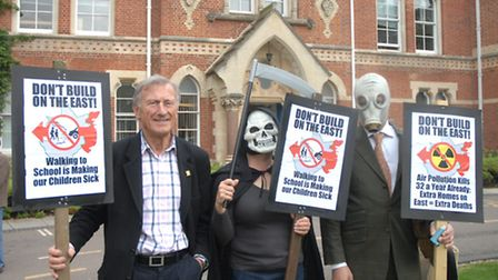 Saffron Walden's Essex county councillor John Lodge was among the campaigners protesting new housing