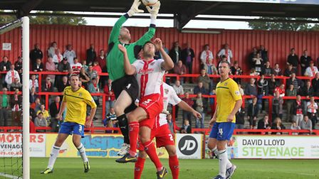 Stevenage in action against Coventry City in the season just gone. Photo: Danny Loo