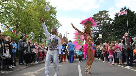 The Kimpton May parade comes down the high street