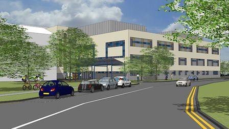 The construction team working on a £13m new ward block at Lister Hospital in Stevenage