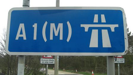 The car crash took place on the A1(M) between junctions 10 for Stotfold and 9 for Letchworth Gate