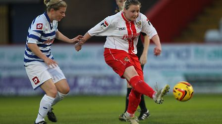 Stevenage Ladies' manager and captain Josie North. Photo: Harry Hubbard