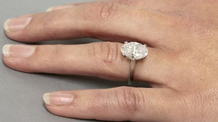 The single stone 3.41ct diamond ring will go under the hammer at Sworders Silver & Jewellery Sale, S