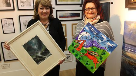 Owners Val Cansick and Fran Hale in their new art gallery