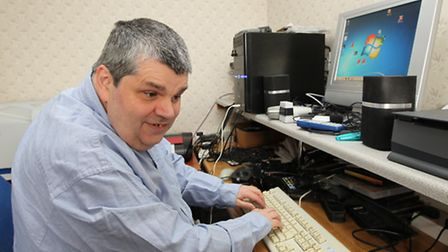 Steve Nutt with his computer