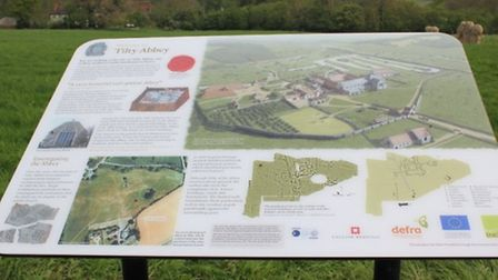 The new information boards at the Abbey field site in Tilty.