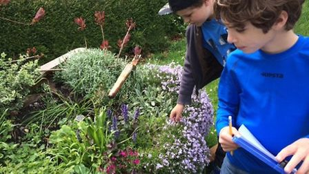 Children and parents at Chrishall School spent an afternoon combining eco and technology skills when