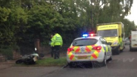 Emergency services were called to a crash on Norton Way North this morning (Friday). Credit: @KPixP