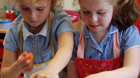 Year 1 pupils at Newport Primary School took part in an online cookery lesson as part of Jamie Olive