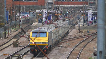 The incident occurred on a train travelling between Hitchin and Stevenage