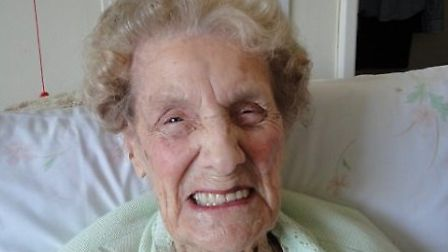 Mary Lincoln on her 103rd birthday