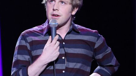 Josh Widdicombe on Live at the Apollo (Picture: Andy Hollingworth)