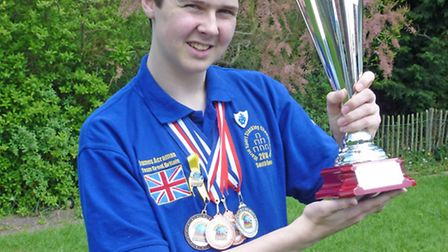 Competitive sports stacker James Acraman is attending Stevenage's Health Action Day