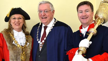 The mayor making ceremony took place in Saffron Walden Town Hall on Saturday. Picture: Megan Ridgewe