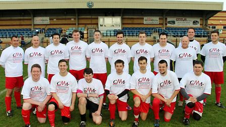 SSAFC in CMA shirts at the Mitchell Cole tournament. Picture: supplied