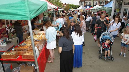 The Letchworth Food and Garden Festival on Leys Avenue