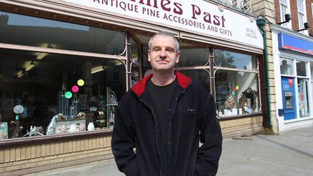 Dale Gaffney owner of Times Past in Letchworth which is closing down.