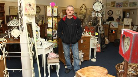 Dale Gaffney owner of Times Past in Letchworth GC which is closing down.