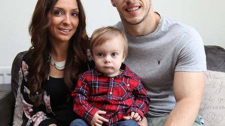 Amy Wilson and Charlie Phipps with Harry