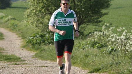 National Grid manager Peter Wilson, from Saffron Walden, in training for the Newmarket Triathlon.
