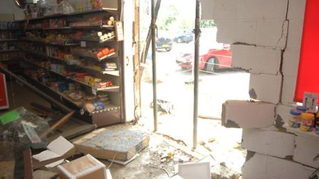 The shop's management committee said the damaged stock will have to be thrown away.