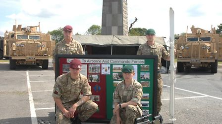 Clockwise from back right, Lance Corporal Chris Rooney, Lance Corporal James Payze, Sapper Laurence