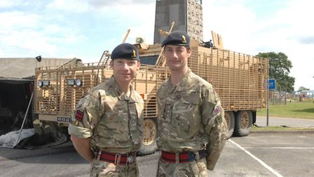 Lieutenant Colonel Eldon Millar MBE (left), Commanding Officer of 33 Engineer Regiment (Explosive Or