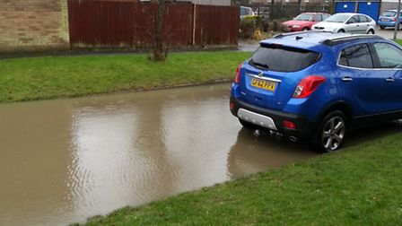 Flooding in Winchester Close