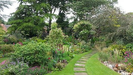 Diane Jury's garden will be on display during the Letchworth Art and Leisure Group open gardens day