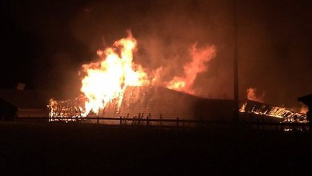 Thousands of French partridge were saved from the barn blaze in Sible Hedingham. Pictures: ECFRS