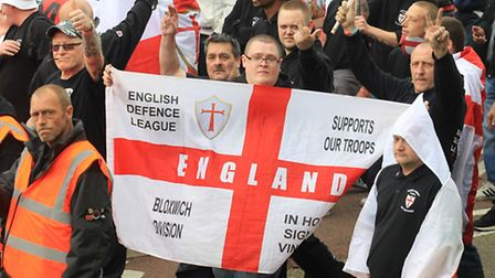 Around 300 members of the EDL came to Stevenage on Saturday