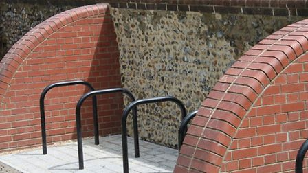 There are new cycle racks in the castle grounds.