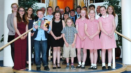 The Rotary Club of Saffron Walden Book Awards winners.