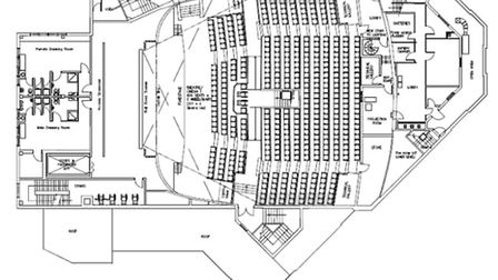 The proposed plans for the theatre