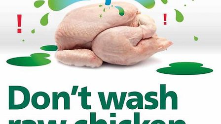 The food safety campaign poster.